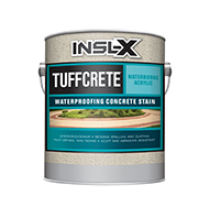 HOWARD'S PAINT & WALLPAPER LTD TuffCrete Waterborne Acrylic Waterproofing Concrete Stain is a water-reduced acrylic concrete coating designed for application to interior or exterior masonry surfaces. It may be applied in one coat, as a stain, or in two coats for an opaque finish.  Waterborne acrylic formula Colour fade resistant Fast drying Rugged, durable finish Resists detergents, oils, grease &scrubbing For interior or exterior masonry surfacesboom