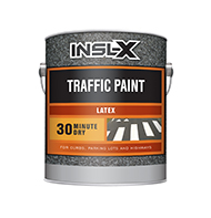 BAY CITY PAINT & WALLPAPER INC Latex Traffic Paint is a fast-drying, exterior/interior acrylic latex line marking paint. It can be applied with a brush, roller, or hand or automatic line markers.  Acrylic latex traffic paint Fast Dry Exterior/interior use OTC compliantboom